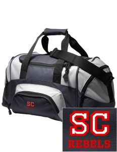 Sioux Central Junior High School Rebels Embroidered Small Colorblock Duffel
