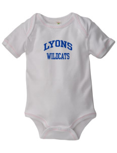 Lyons Middle School Wildcats Baby Zig-Zag Creeper