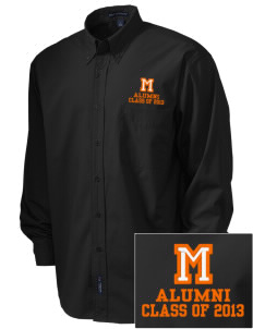 Mediapolis Middle School Bulldogs  Embroidered Men's Easy Care, Soil Resistant Shirt