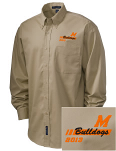 Mediapolis Middle School Bulldogs Embroidered Men's Easy-Care Shirt