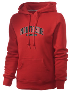 North Side Elementary School Bulldogs Russell Women's Pro Cotton Fleece Hooded Sweatshirt