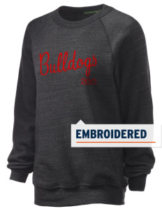 North Side Elementary School Bulldogs Embroidered Unisex Alternative Eco-Fleece Raglan Sweatshirt
