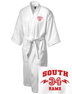 South Elementary School Rams Embroidered Terry Velour Robe