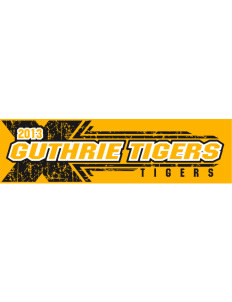 "Guthrie Center Junior High School Tigers Bumper Sticker 11"" x 3"""
