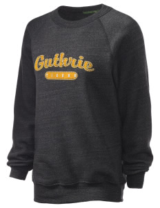 Guthrie Center Junior High School Tigers Unisex Alternative Eco-Fleece Raglan Sweatshirt with Distressed Applique
