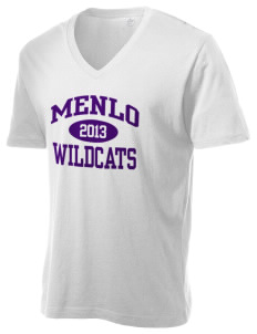 Menlo Elementary School Wildcats Alternative Men's 3.7 oz Basic V-Neck T-Shirt