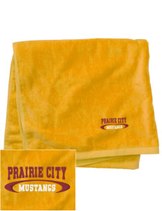 Prairie City Elementary School Mustangs Embroidered Beach Towel