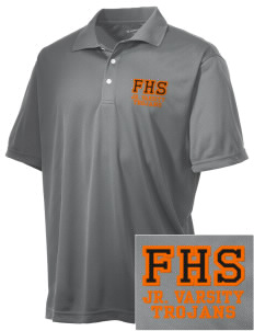 Fairfield Senior High School Trojans Embroidered Men's Double Mesh Polo