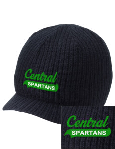 Central Elementary School Spartans Embroidered Knit Beanie with Visor