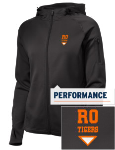 Red Oak Middle School Tigers Embroidered Women's Tech Fleece Full-Zip Hooded Jacket