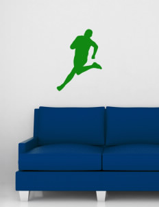 "Central Middle School Chargers Wall Silhouette Decal 20"" x 24"""