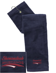 Shenandoah Elementary School Mustangs Embroidered Hand Towel with Grommet