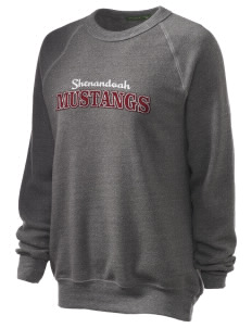 Shenandoah Elementary School Mustangs Unisex Alternative Eco-Fleece Raglan Sweatshirt with Distressed Applique