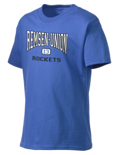 Remsen-Union Community School Rockets Kid's Lightweight T-Shirt