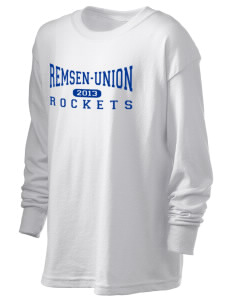 Remsen-Union Community School Rockets Kid's 6.1 oz Long Sleeve Ultra Cotton T-Shirt