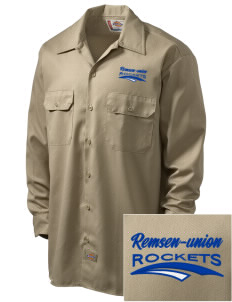 Remsen-Union Community School Rockets Embroidered Dickies Men's Long-Sleeve Workshirt