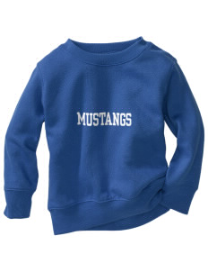 Newell-Fonda Middle School Mustangs Toddler Crewneck Sweatshirt