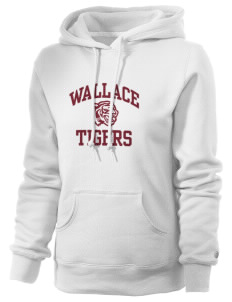 Wallace Elementary School Tigers Russell Women's Pro Cotton Fleece Hooded Sweatshirt