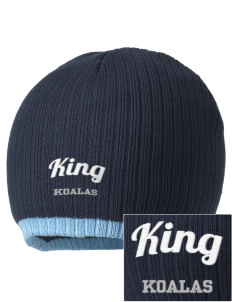 King Elementary School Koalas Embroidered Champion Striped Knit Beanie