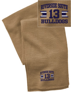 Riverside South Elementary School Bulldogs  Embroidered Knitted Scarf