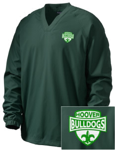 Hoover Elementary School Bulldogs Embroidered Men's V-Neck Raglan Wind Shirt