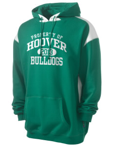 Hoover Elementary School Bulldogs Men's Pullover Hooded Sweatshirt with Contrast Color