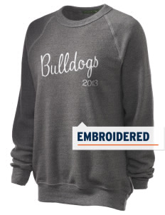 Hoover Elementary School Bulldogs Embroidered Unisex Alternative Eco-Fleece Raglan Sweatshirt