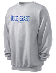 Blue Grass Elementary School Wildcats Men's 7.8 oz Lightweight Crewneck Sweatshirt