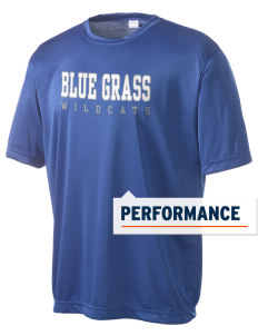Blue Grass Elementary School Wildcats Men's Competitor Performance T-Shirt