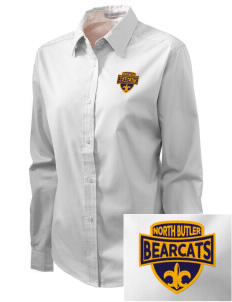 North Butler High School Bearcats Embroidered Women's Easy-Care Shirt