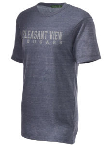 Pleasant View Elementary School Cougars Embroidered Alternative Unisex Eco Heather T-Shirt