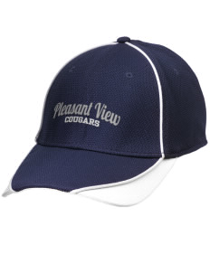 Pleasant View Elementary School Cougars Embroidered New Era Contrast Piped Performance Cap