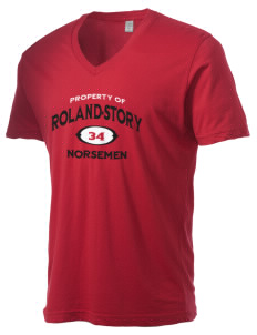 Roland-Story High School Norsemen Alternative Men's 3.7 oz Basic V-Neck T-Shirt