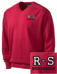 Roland-Story High School Norsemen Embroidered Men's V-Neck Sweater