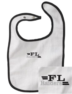 Frank Layden Elementary School Raiders Embroidered Baby Snap Terry Bib