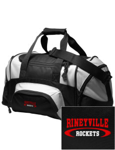 Rineyville Elementary School Rockets Embroidered Small Colorblock Duffel