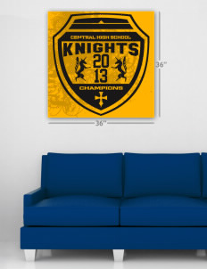 "Central High School Knights Wall Poster Decal 36"" x 36"""