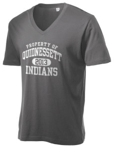Quidnessett Elementary School Indians Alternative Men's 3.7 oz Basic V-Neck T-Shirt