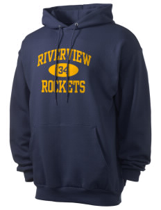 Riverview Elementary School Rockets Men's 7.8 oz Lightweight Hooded Sweatshirt