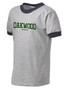 Oakwood High School Hawks Kid's Ringer T-Shirt