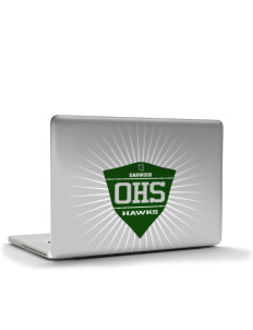 "Oakwood High School Hawks Apple MacBook Pro 15.4"" Skin"