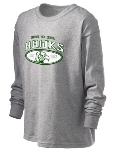 Oakwood High School Hawks Kid's 6.1 oz Long Sleeve Ultra Cotton T-Shirt