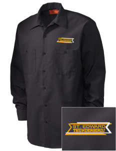 St. Edward Thunderbirds Embroidered Men's Industrial Work Shirt - Regular