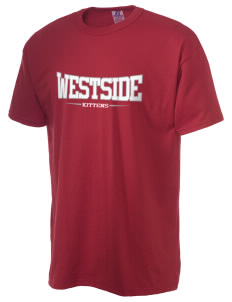 Westside Elementary School Kittens  Russell Men's NuBlend T-Shirt