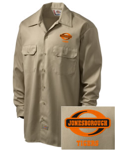 Jonesborough Elementary School Tigers Embroidered Dickies Men's Long-Sleeve Workshirt