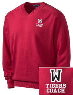 Wheatley Elementary School Tigers Embroidered Men's V-Neck Sweater