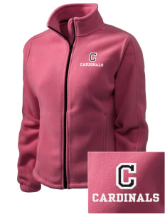 Columbus Elementary School Cardinals Embroidered Women's Fleece Full-Zip Jacket
