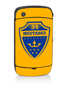 Oologah High School Mustangs Black Berry 8530 Curve Skin