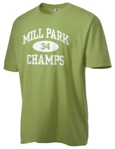 Mill Park Elementary School Champs Men's Pigment-Dyed Vintage T-Shirt