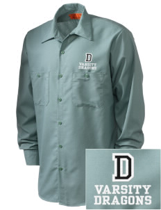 Davis Elementary School Dragons Embroidered Men's Industrial Work Shirt - Regular